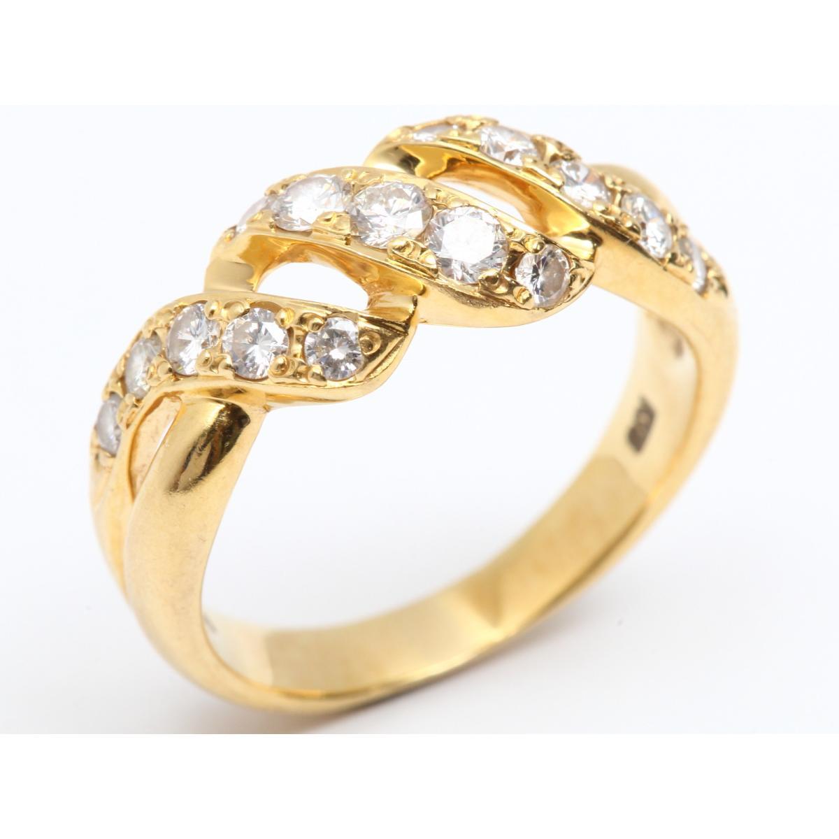 【中古】【送料無料】 ジュエリー ダイヤモンド リング 指輪 レディース K18YG (750) イエローゴールド x ダイヤモンド (0.59ct)   JEWELRY リング K18 18K 18金 美品 ブランドオフ BRANDOFF