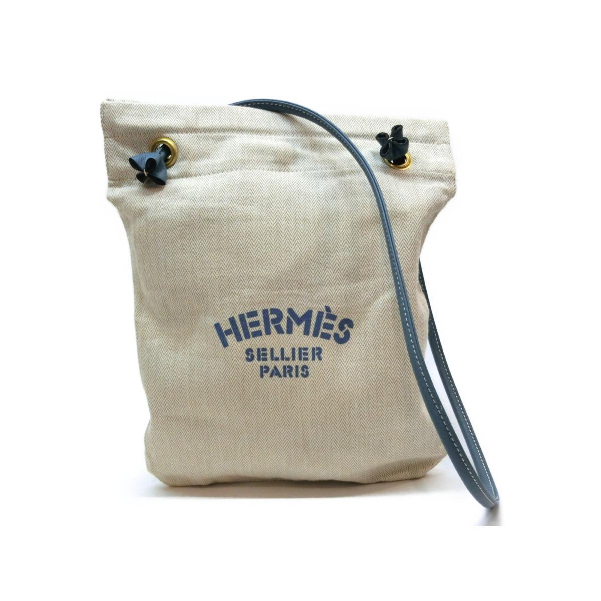 148d9be2f493 ... バッグ メンズ レディース キャンバス ベージュ x ブルー | HERMES トートバッグ ショルダーバック ショルダー 肩がけ バッグ  バック BAG ブランドバッグ ブランド ...