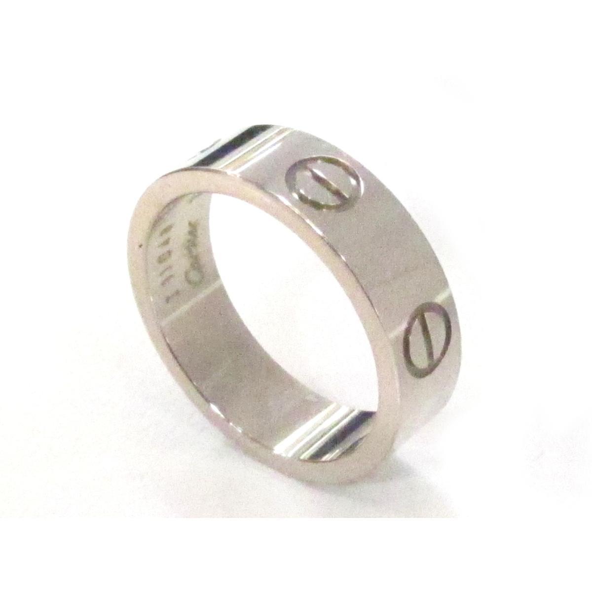365641b61992 ... カルティエラブリング指輪ユニセックスK18WG(750)ホワイトゴールド ...