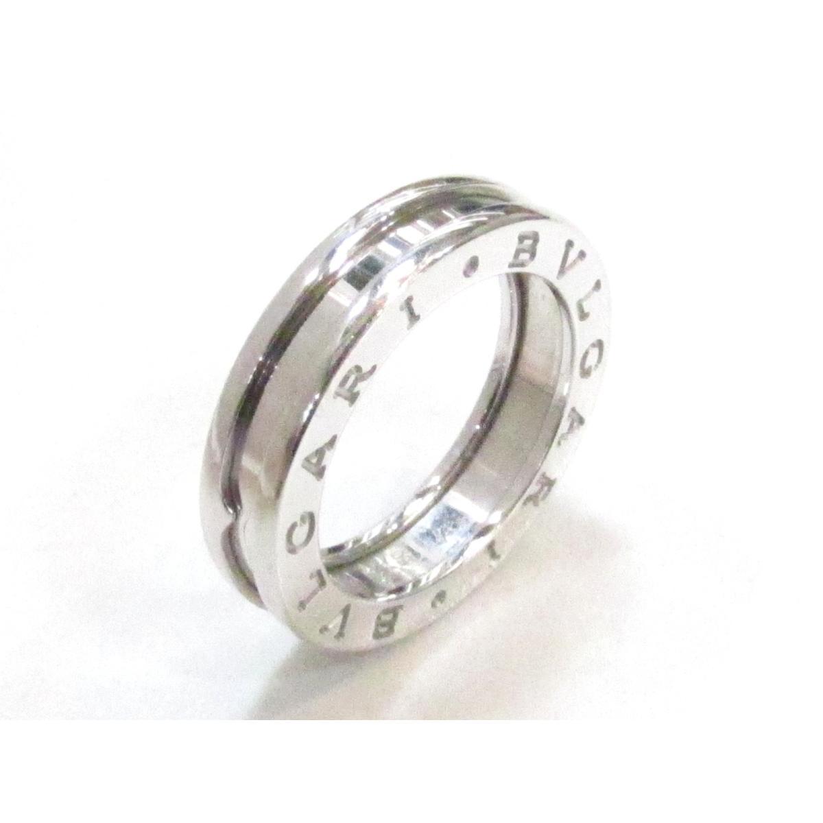 cab998fb810d 【中古】 ブルガリ B-zero1 リング x Sサイズ 指輪 メンズ レディース K18WG (750) ホワイトゴールド   BVLGARI リング  18K 18金 B-zero1 リング XSサイズ 美品 ...