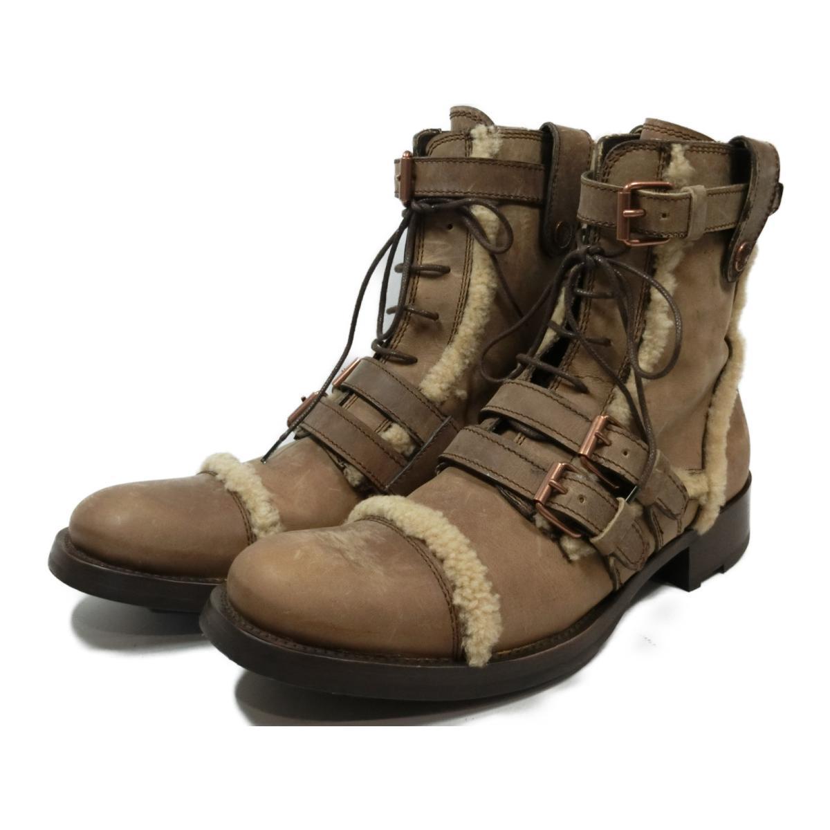 【中古】ドルチェ&ガッバーナ ブーツ/MEN'S 靴 メンズ レザー キャメル