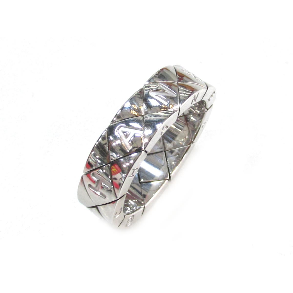 c0bf60bc326b ... シャネル マトラッセリング 指輪 メンズ レディース K18WG (750) ホワイトゴールド | CHANEL リング K18 18K  18金 マトラッセリング 美品 ブランドオフ BRANDOFF