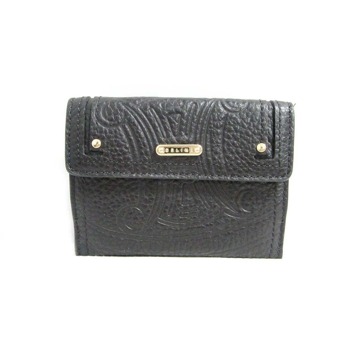 【中古】 セリーヌ Wホック財布 メンズ レディース レザー ブラック (107493NGR) | CELINE 財布 Wホック財布 美品 ブランドオフ BRANDOFF