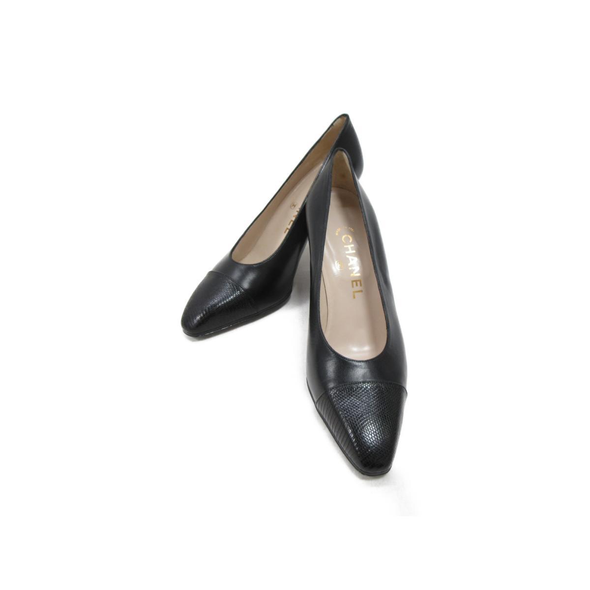【中古】 シャネル パンプス レディース レザー ブラック | CHANEL くつ 靴 パンプス 美品 ブランドオフ