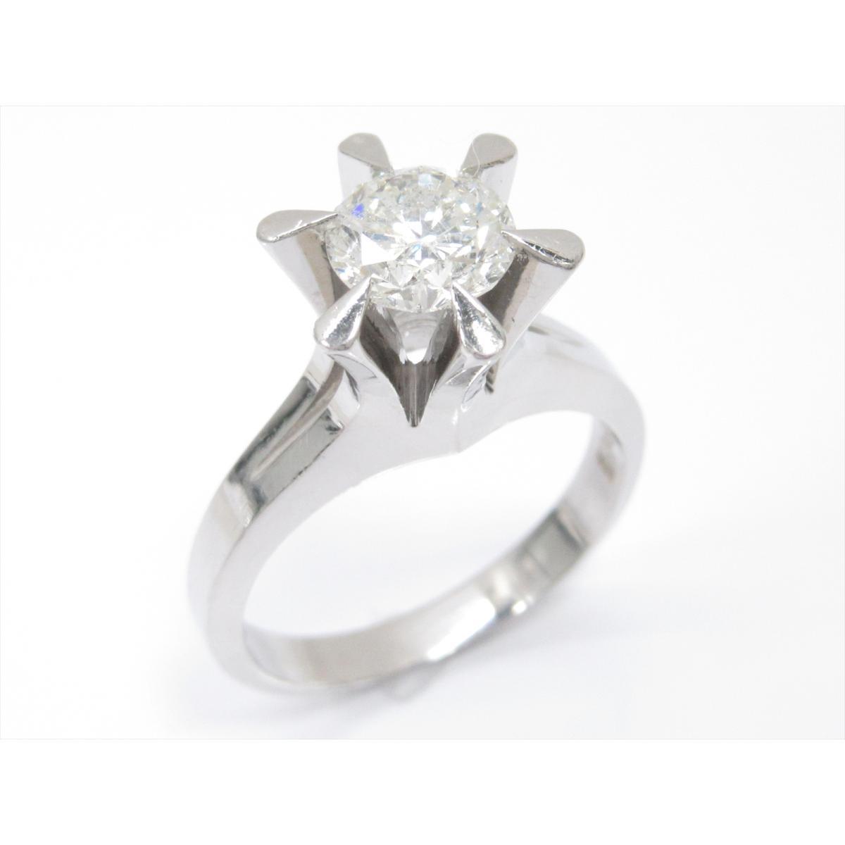 【中古】 ジュエリー 1粒ダイヤモンドリング 指輪 レディース PT900 プラチナ x ダイヤモンド (1.217ct) | JEWELRY リング リング 美品 ブランドオフ BRANDOFF