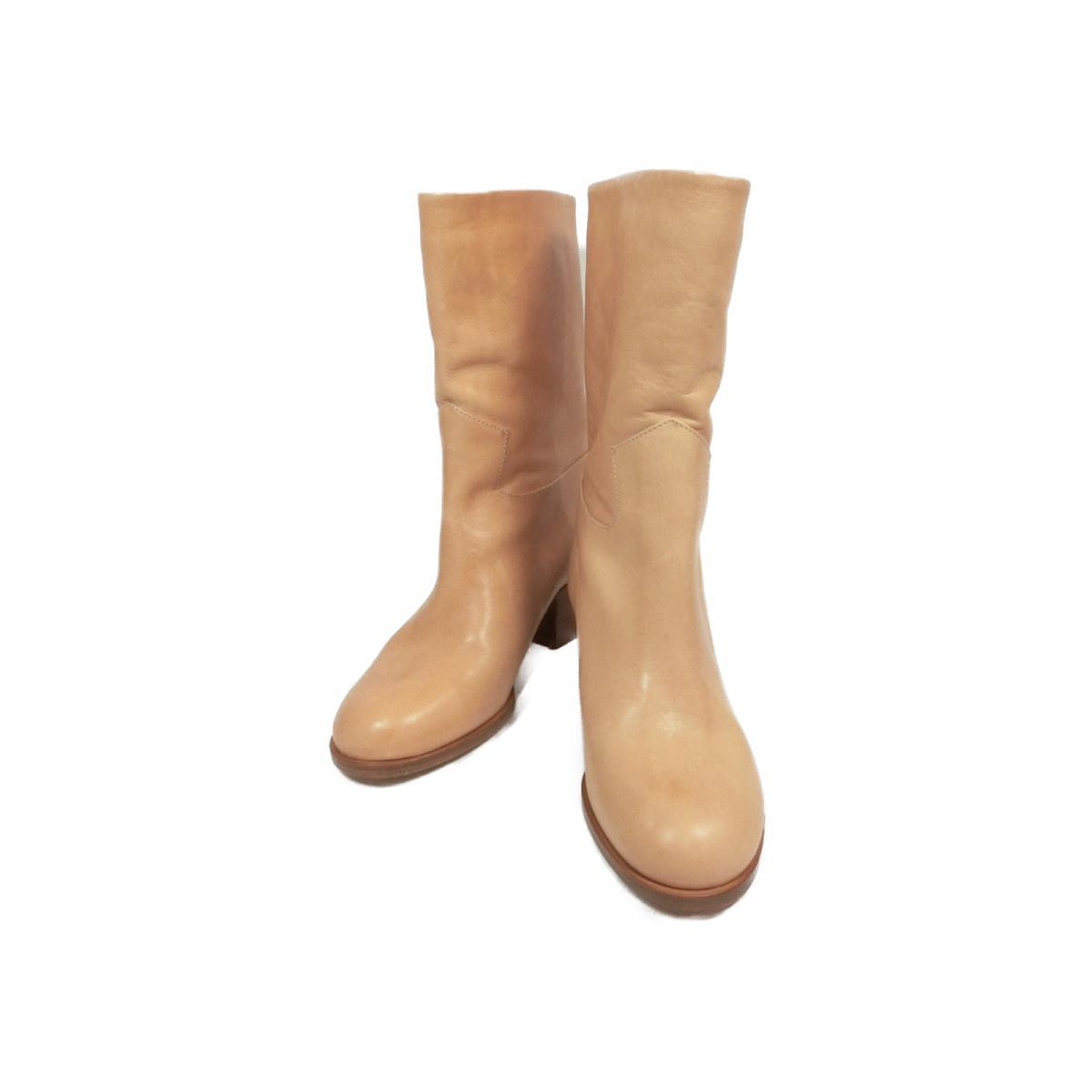 【中古】 シャネル ブーツ レディース レザー ベージュ | CHANEL くつ 靴 ブーツ 美品 ブランドオフ