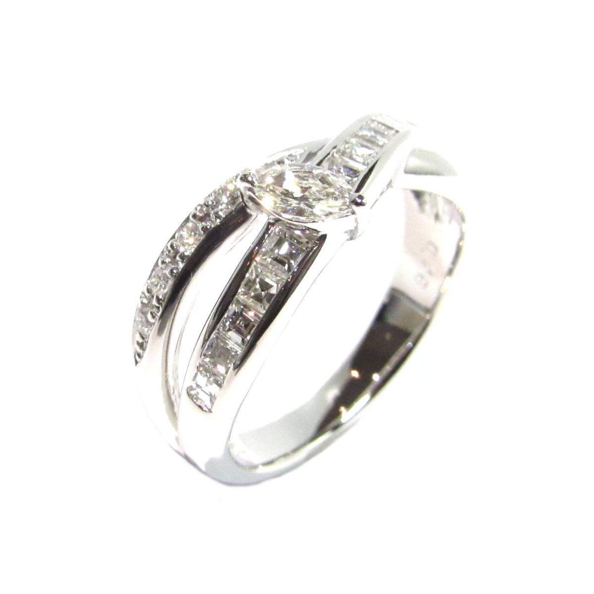 【中古】 ジュエリー ダイヤモンドリング 指輪 レディース PT900 プラチナ × ダイヤモンド0.76ct シルバー × クリアー | JEWELRY リング リング 美品 ブランドオフ BRANDOFF