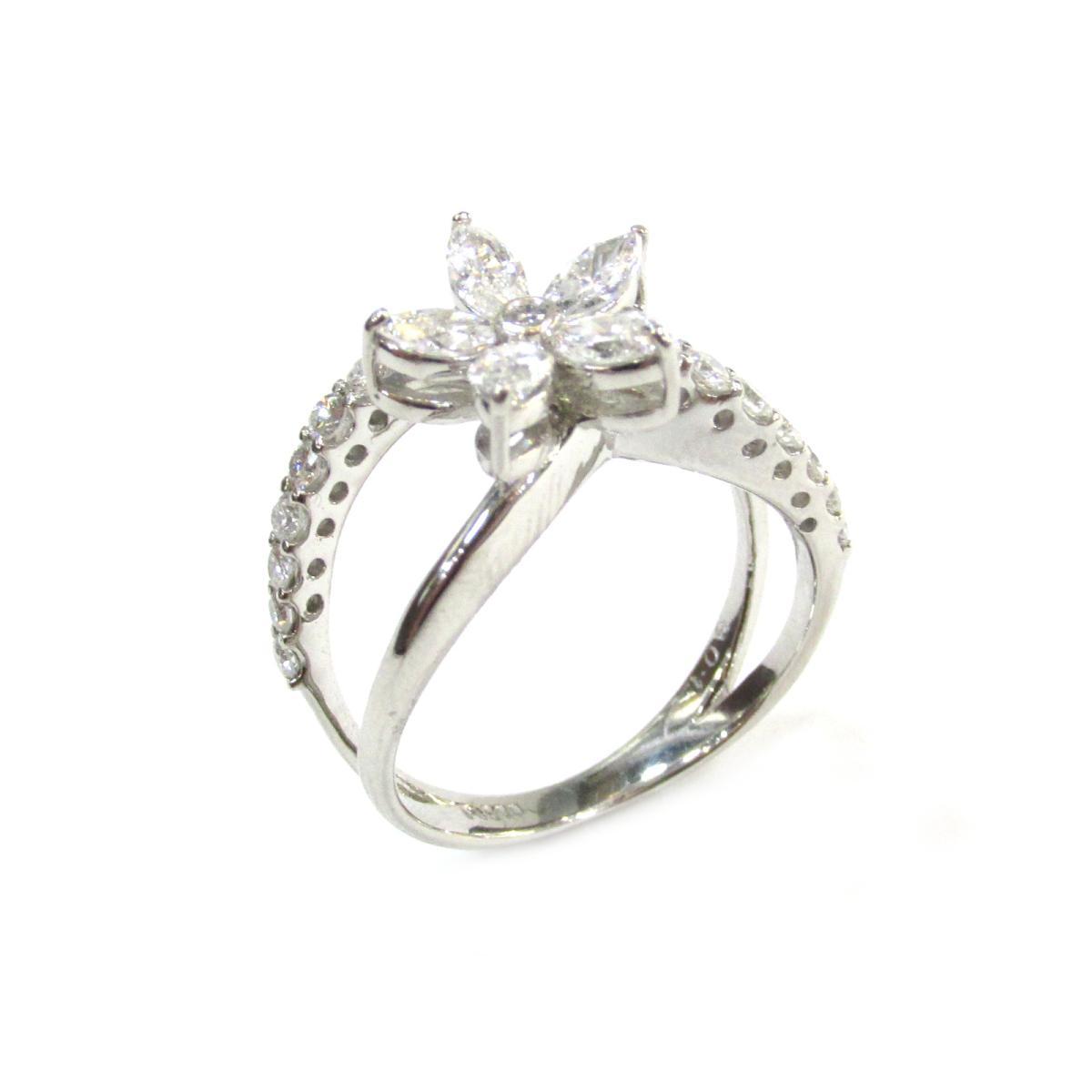 【中古】 ジュエリー ダイヤモンドリング 指輪 レディース PT900 プラチナ × ダイヤモンド (1.08ct)   JEWELRY リング 美品 ブランドオフ BRANDOFF