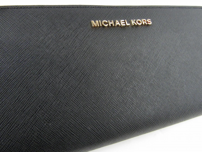 マイケルコース ラウンド長財布 レディース 型押しレザー ブラック32S3GTVE3L001MICHAEL KORS 長財布 財布 ラウンド長財布 美品 ブランドオフqMpSUzV