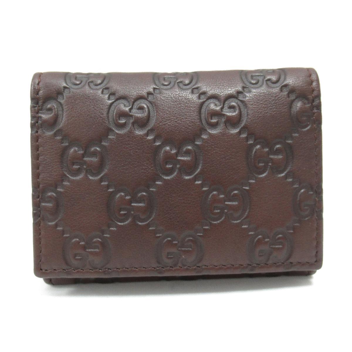 【中古】 グッチ カードケース メンズ レディース レザー ブラウン (120965) | GUCCI ケース カードケース 美品 ブランドオフ BRANDOFF