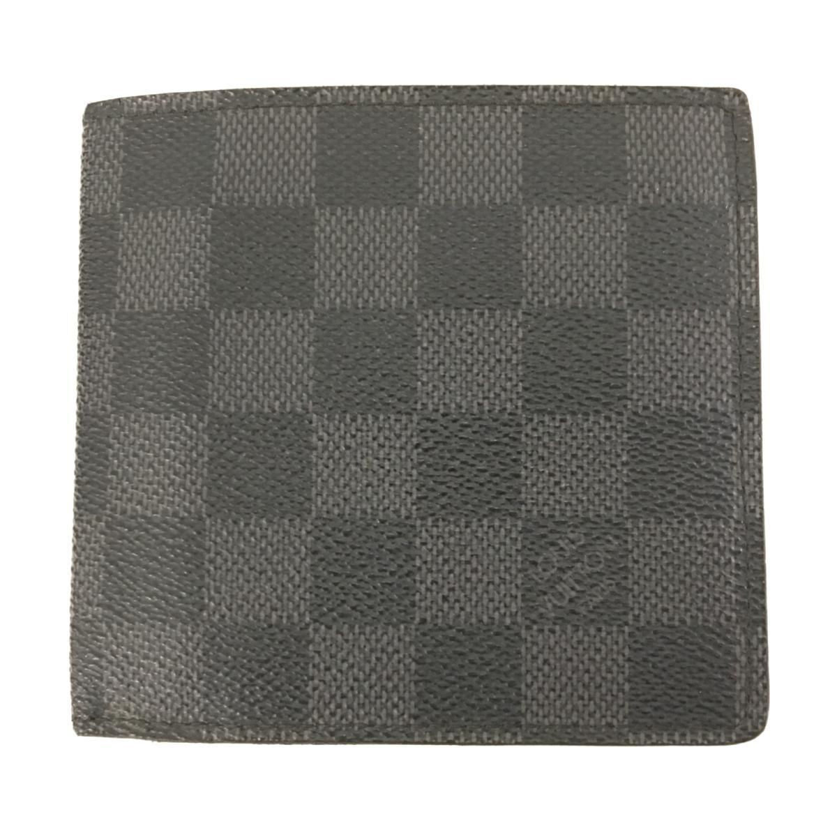 【中古】 ルイヴィトン 二つ折財布 ウォレット メンズ レディース ダミエ・グラフィット (N62664) | LOUIS VUITTON ヴィトン ビトン ルイ・ヴィトン 財布 二つ折財布 ブランドオフ BRANDOFF