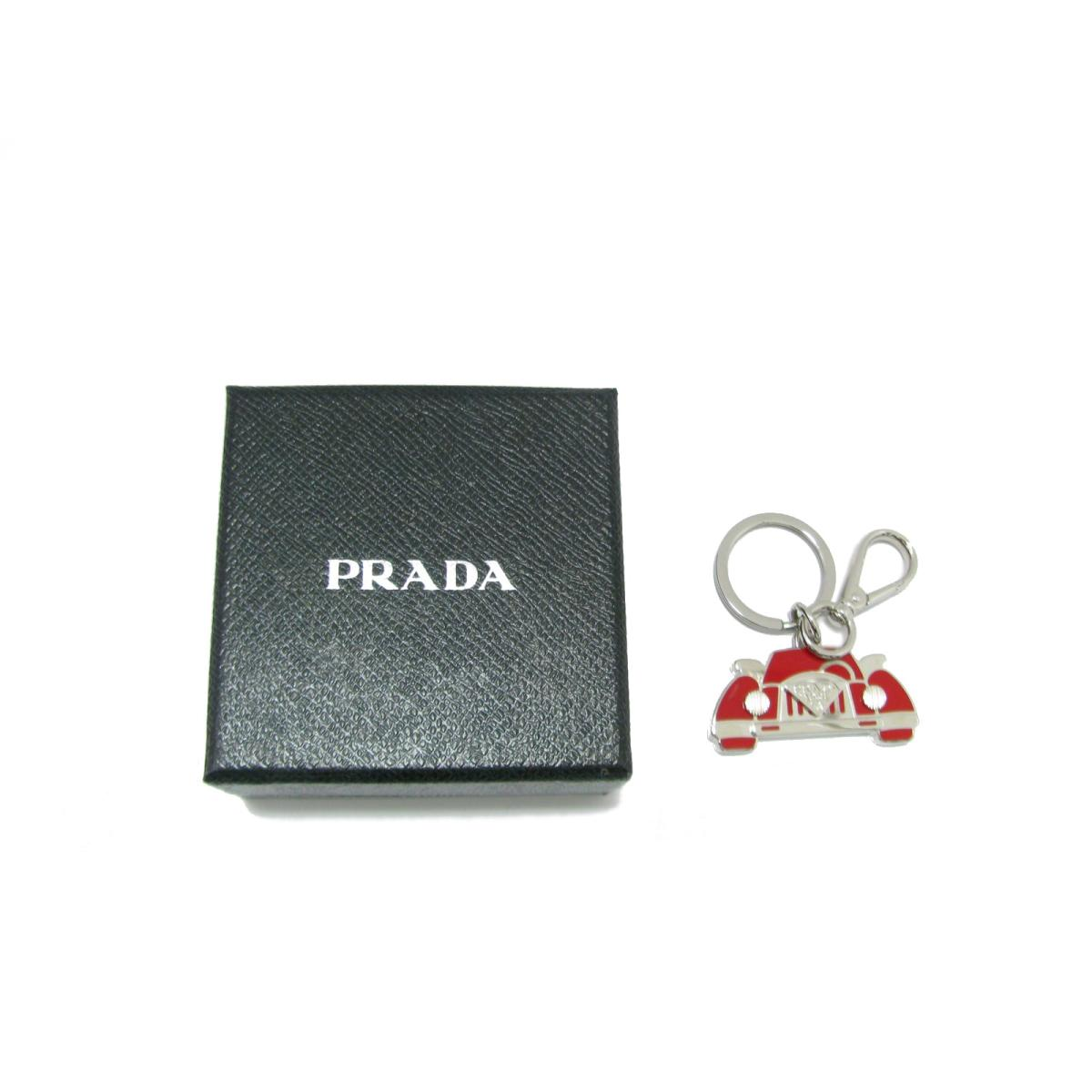 45aef37ad7c2 Prada key ring key ring car motif men gap Dis metal x red   PRADA key ring  key ring car motif beauty product brand off BRANDOFF