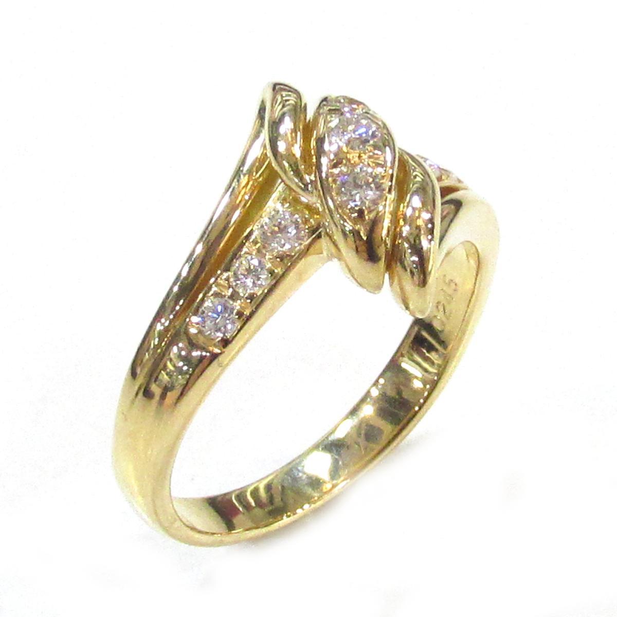 【中古】 ポーラ ダイヤモンドリング 指輪 メンズ レディース K18YG (750) イエローゴールド × ダイヤモンド (0.24ct)   JEWELRY リング K18 18K 18金 美品 ブランドオフ BRANDOFF