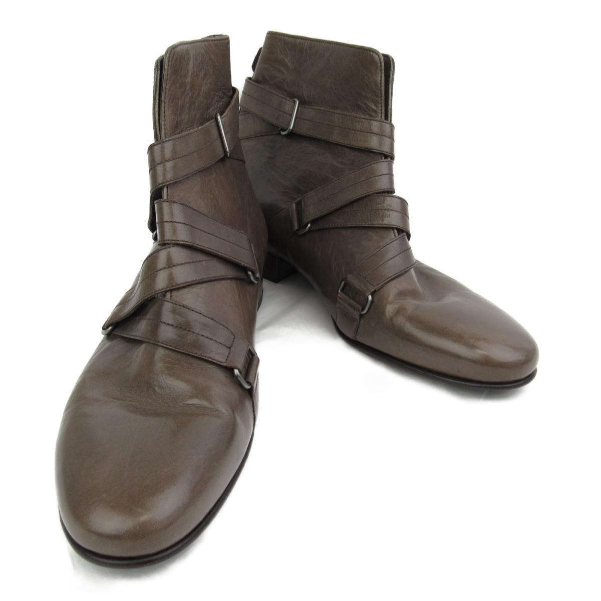 【中古】 ルイヴィトン ショートブーツ レディース レザー ブラウン   LOUIS VUITTON ヴィトン ビトン ルイ・ヴィトン くつ 靴 ショートブーツ ブランドオフ