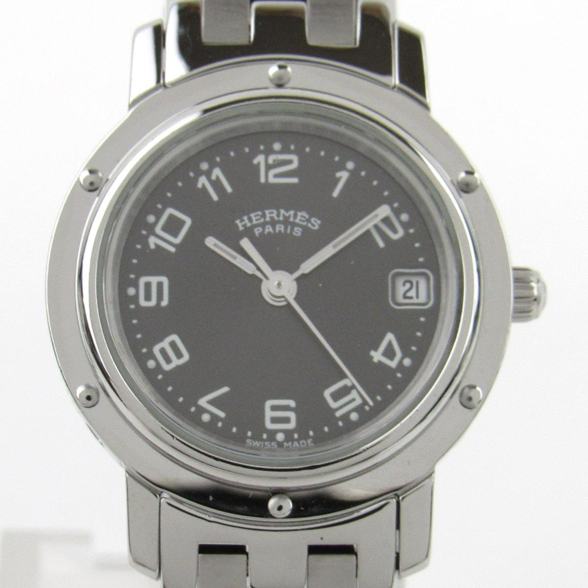 【中古】 エルメス クリッパー ウォッチ 腕時計 レディース ステンレススチール (SS) (CL4.210) | HERMES クオーツ 時計 クリッパー 美品 ブランドオフ