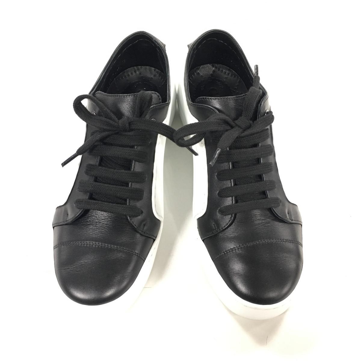 【中古】 シャネル スニーカー 靴 レディース レザー ホワイト × ブラック (G32719/2018年コレクション) | CHANEL くつ 靴 スニーカー サイズ37 ブランドオフ