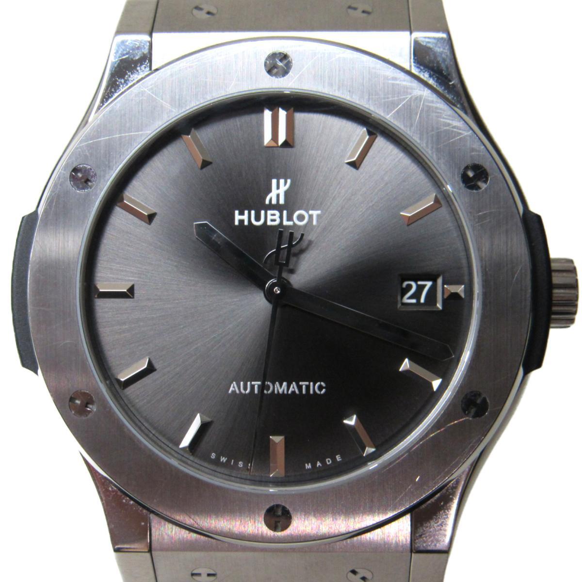 【中古】 ウブロ クラシックフュージョン 腕時計 ウォッチ メンズ レディース レザーベルト x チタン (511.NX.7071.LR) | HUBLOT ブランドオフ ブランド ブランド時計 ブランド腕時計 時計