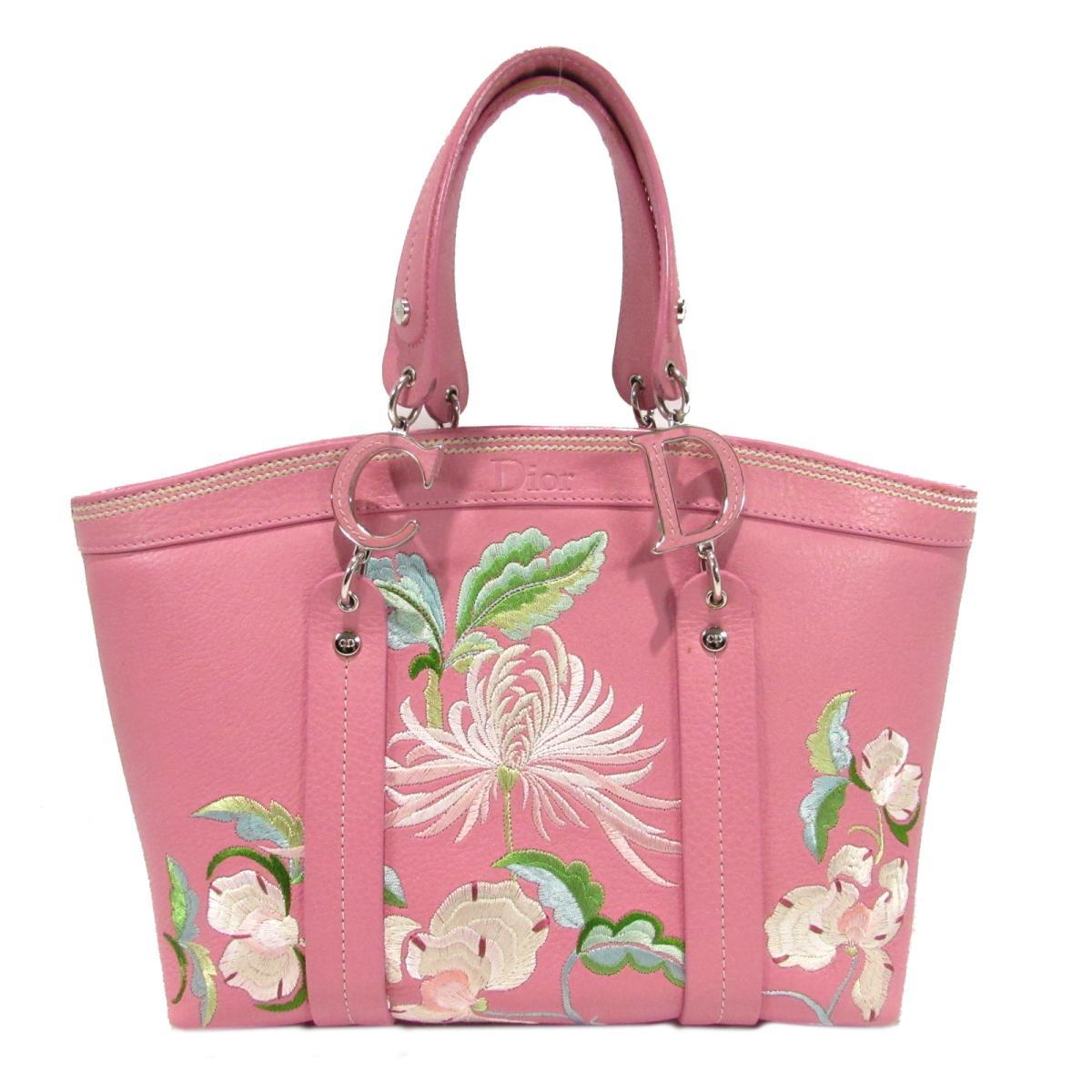 【中古】 クリスチャン・ディオール ハンドバッグ レディース レザー ピンク | Dior ハンドバック バッグ バック BAG 鞄 カバン ブランドバッグ ブランドバック 美品 ブランドオフ