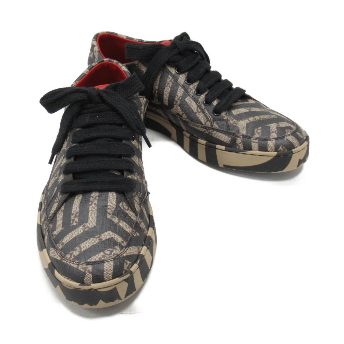 【中古】 グッチ スニーカー メンズ PVC ブラック x ベージュ系 (407343) | GUCCI くつ 靴 スニーカー 美品 ブランドオフ