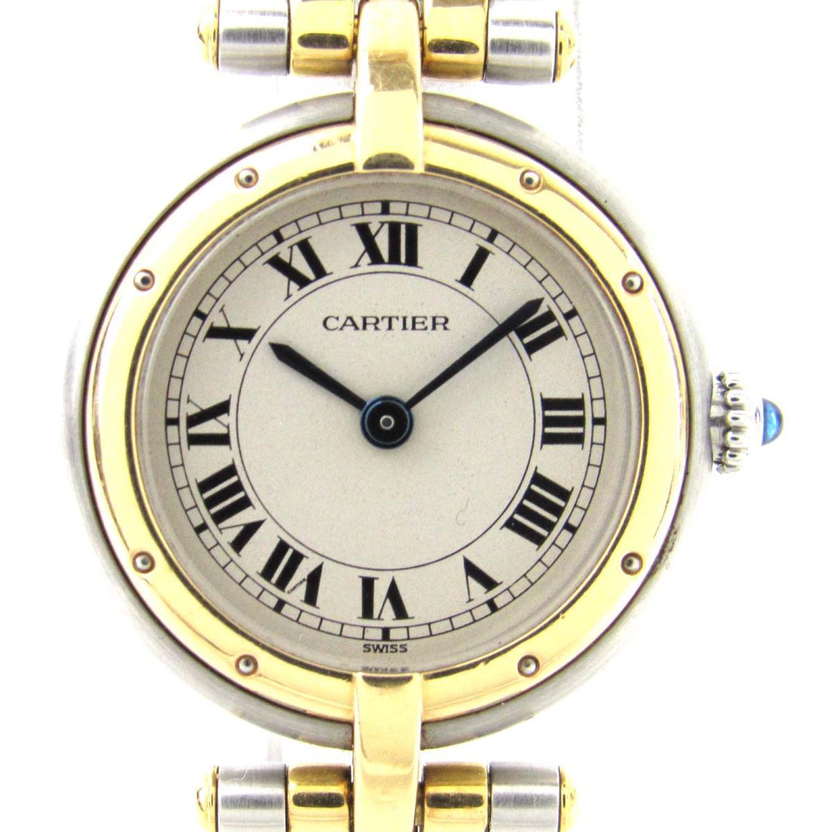 【中古】 カルティエ パンテール パンテール 2ロウ ウォッチ 腕時計 レディース K18YG (750)イエローゴールド X ステンレススチール (SS) | Cartier クオーツ クォーツ 時計 K18 18K 18金 パンテール2ロウ 美品 ブランドオフ