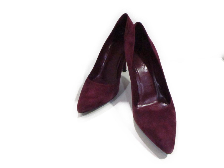 【中古】 エルメス パンプス レディース スエード パープル | HERMES くつ 靴 パンプス 美品 ブランドオフ BRANDOFF