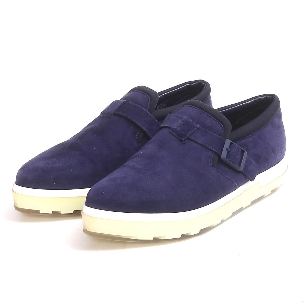 【中古】 ジミーチュウ スニーカー 靴 レディース スエード ネイビー x ホワイト | JIMMY CHOO くつ 靴 スニーカー 美品 ブランドオフ BRANDOFF