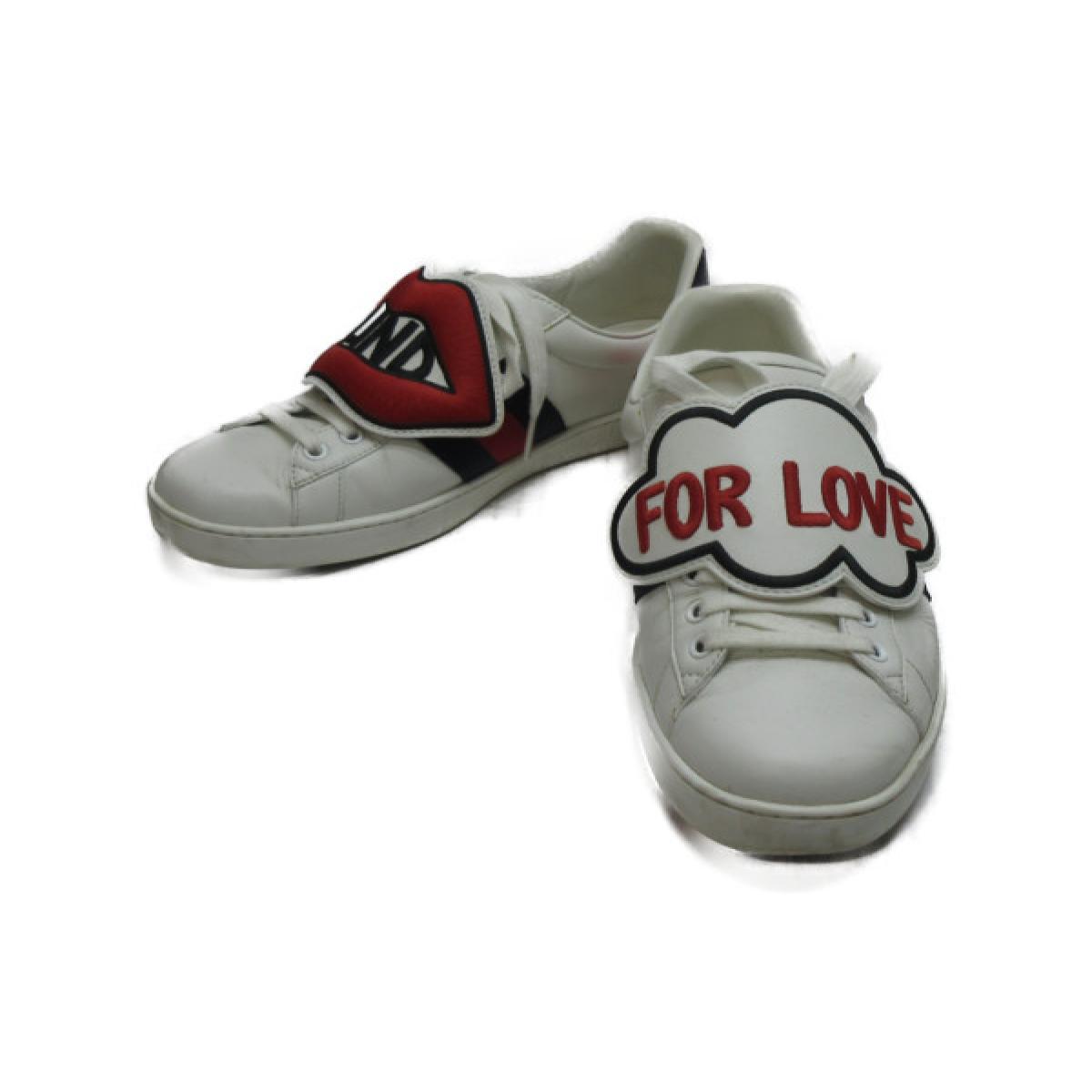 【中古】 グッチ スニーカー メンズ レザー   GUCCI くつ 靴 スニーカー 美品 ブランドオフ