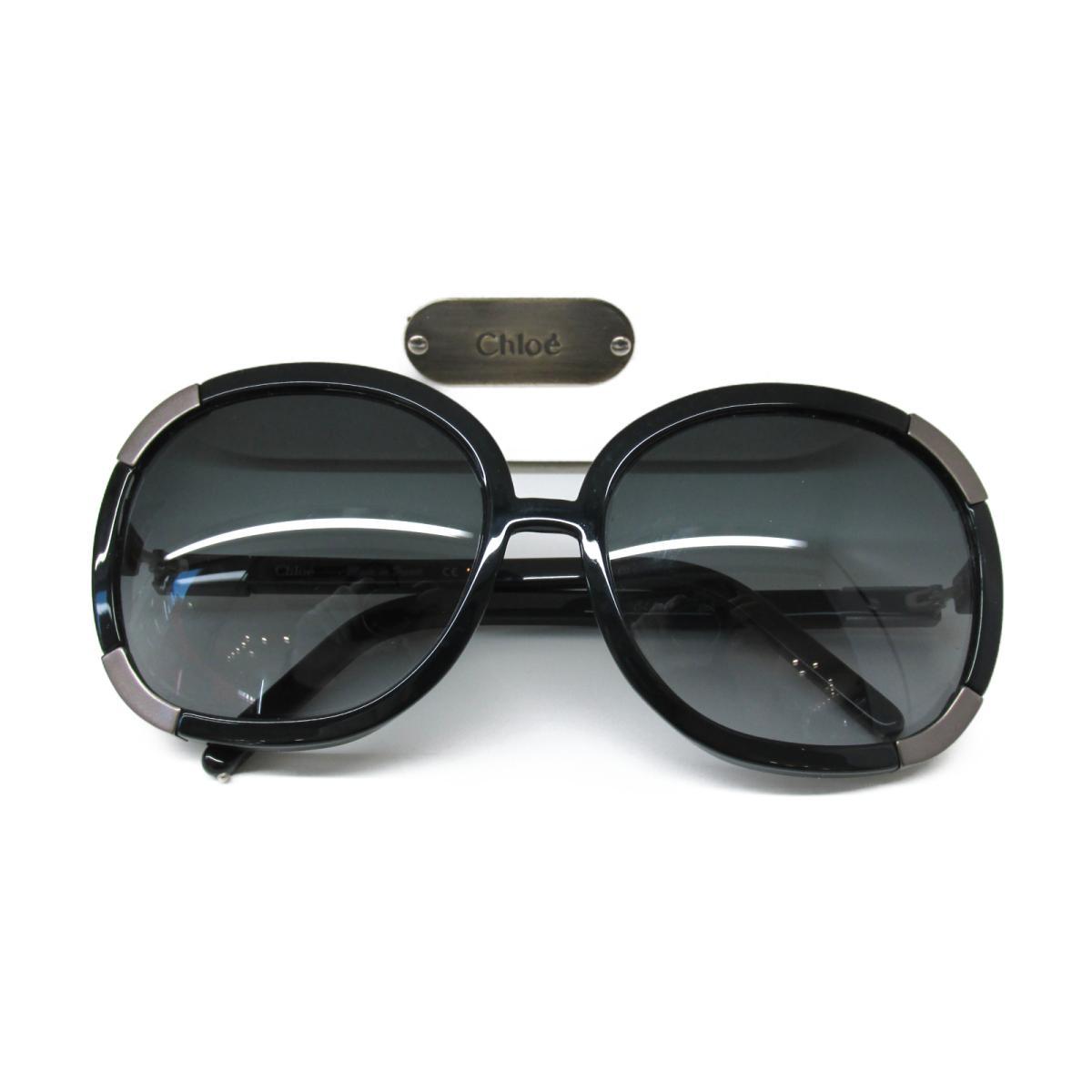 【中古】 クロエ サングラス メンズ レディース プラスチック ブラック × シルバー (135) | Chloe サングラス サングラス 美品 ブランドオフ BRANDOFF