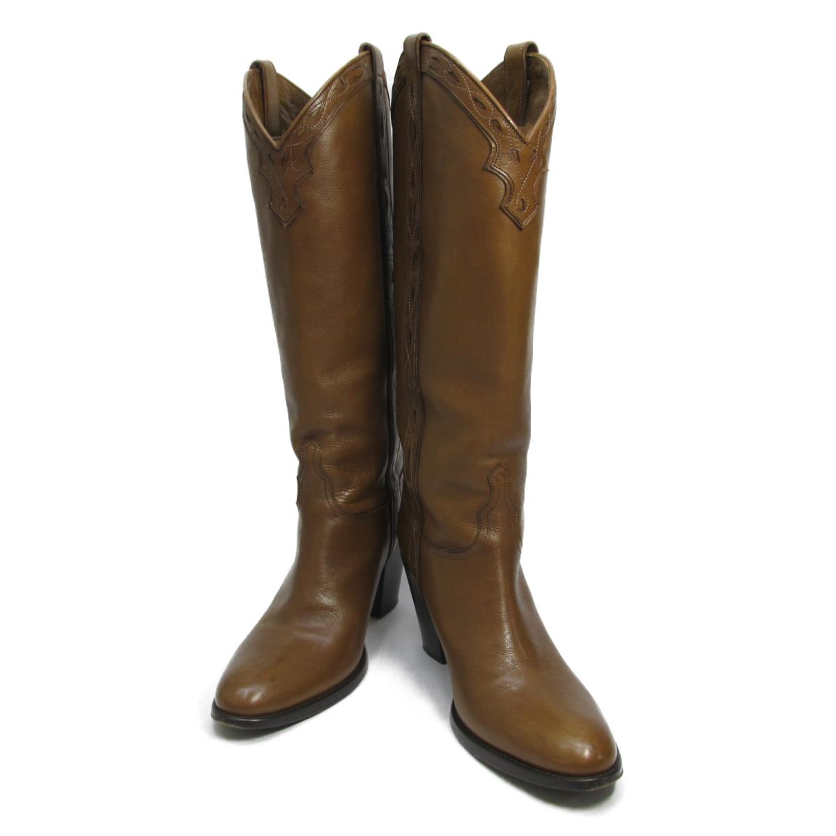 【中古】 セレクション SARTORE ブーツ レディース レザー キャメル | SELECTION くつ 靴 SARTORE ブーツ 美品 ブランドオフ BRANDOFF