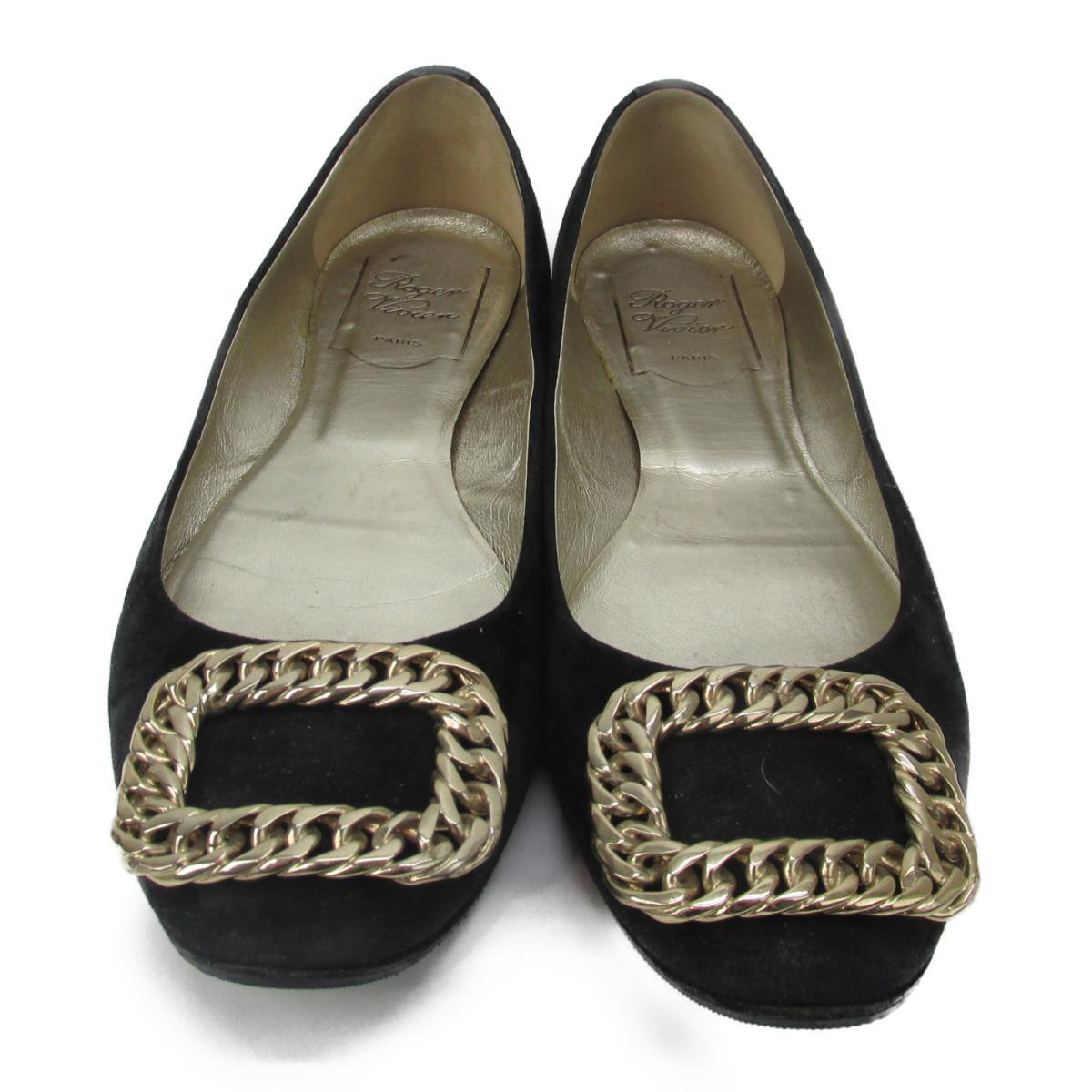 【中古】 セレクション roger vivier パンプス レディース スエード ブラック | SELECTION くつ 靴 roger vivier パンプス 美品 ブランドオフ