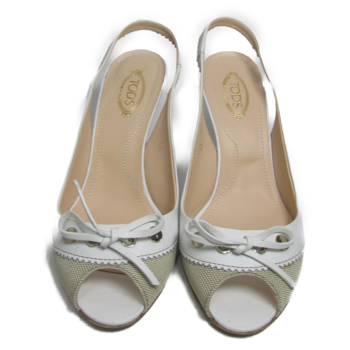 【中古】 トッズ パンプス レディース レザー ホワイト | TOD'S くつ 靴 パンプス 美品 ブランドオフ BRANDOFF