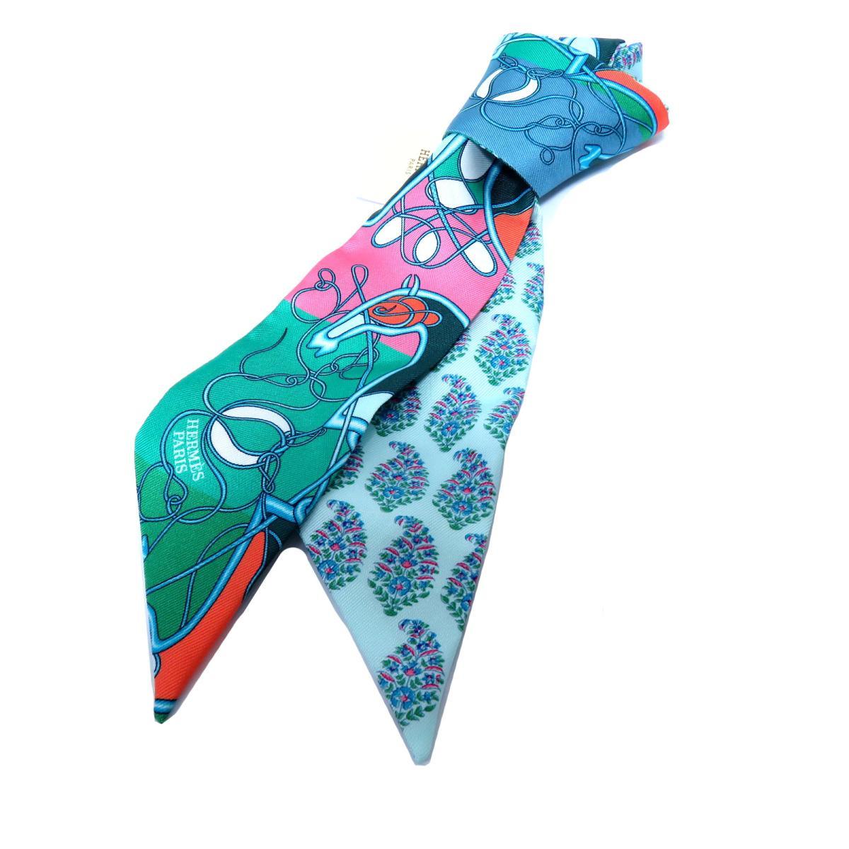 エルメス トゥイリー スカーフ レディース シルク VERT / BLEU / CORA | HERMES スカーフ ツイリー 新品 ブランドオフ