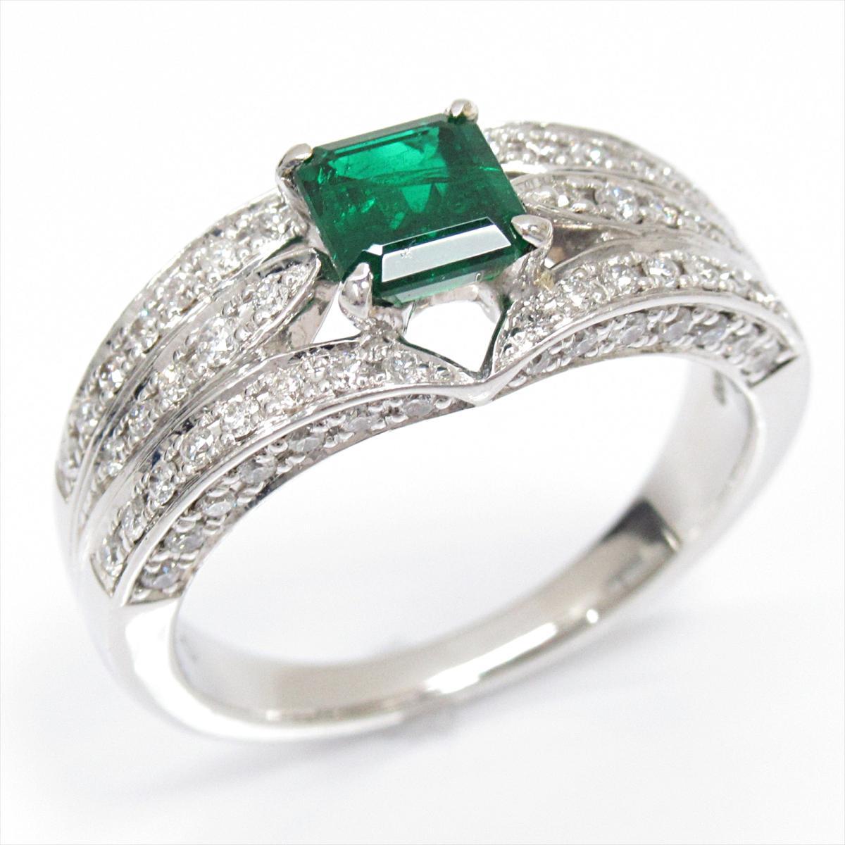 【はこぽす対応商品】 【】 x ジュエリー (0.72ct) エメラルドリング 指輪 レディース PT900 プラチナ x JEWELRY エメラルド (0.72ct) x ダイヤモンド (0.50ct)   JEWELRY リング Ring 美品 ブランドオフ, VC工業株式会社:d82ddc4e --- greencard.progsite.com