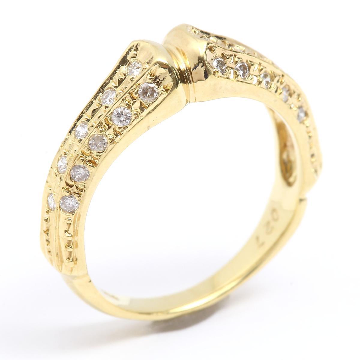 【10%OFFクーポン対象 (750)】【中古】 ジュエリー ダイヤモンド リング リング Ring 指輪 レディース K18YG (750) イエローゴールド x ダイヤモンド (0.27ct) | JEWELRY リング K18 18K 18金 Ring 美品 ブランドオフ BRANDOFF, ウインクデジタル:cb0fed18 --- kanda.ayz.pl