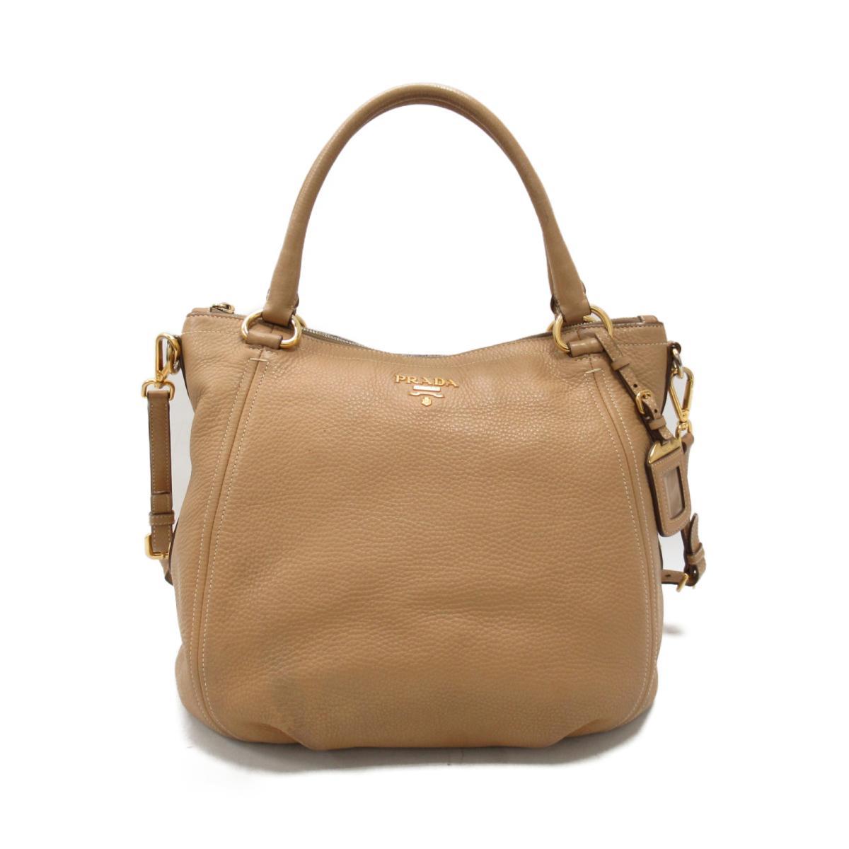 【中古】 プラダ 2way ハンドバッグ レディース レザー ベージュ | PRADA ハンドバック バッグ バック 鞄 カバン ブランドバッグ ブランドバック BAG ブランドオフ
