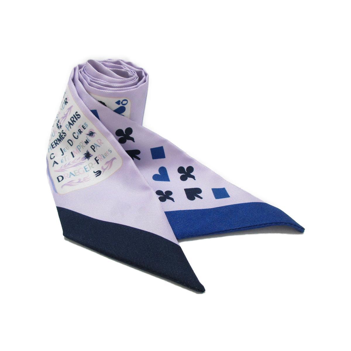 エルメス ジュードカルツ トゥイリー スカーフ レディース シルク モーブ x ブルー x ブラン (MAUVE/BLEU/BLANC) | HERMES スカーフ ジュードカルツ トゥイリー 新品 ブランドオフ