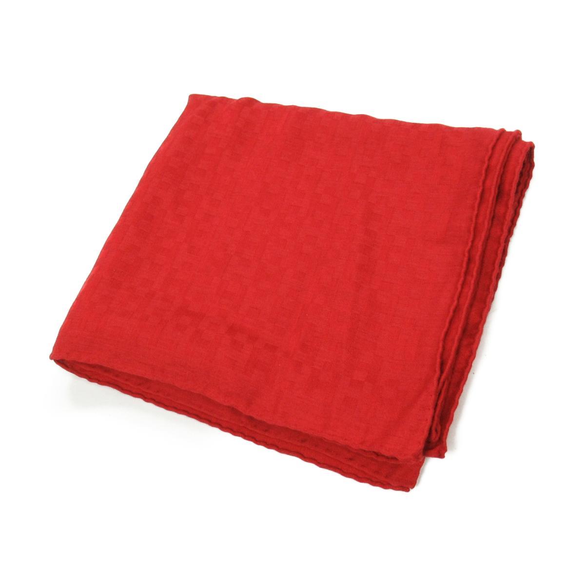 【中古】 エルメス ストール メンズ レディース カシミヤ (70%) x シルク (30%) レッド | HERMES スカーフ スカーフ 美品 ブランドオフ