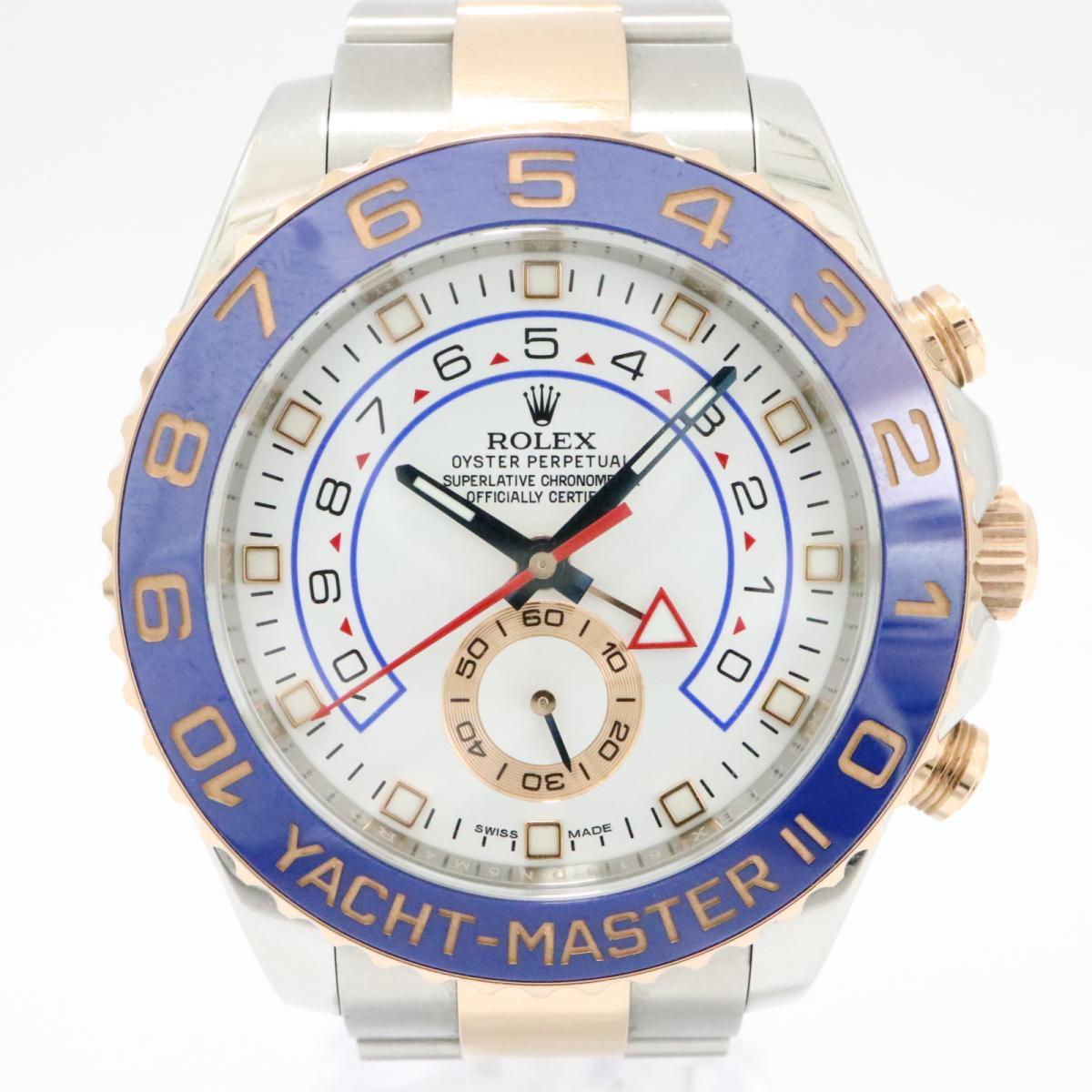 【中古】 ロレックス ヨットマスター2 腕時計 メンズ ステンレススチール (SS) x ピンクゴールド ホワイト (116681) | ROLEX オートマチック 時計 自動巻き ヨットマスター 美品 ブランドオフ