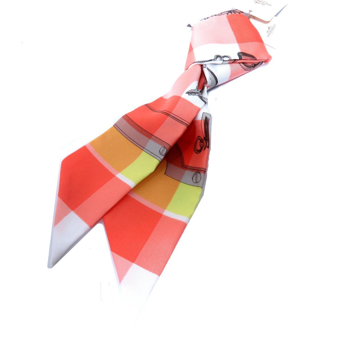 エルメス トゥイリー スカーフ レディース シルク SAUMON CITRON | HERMES スカーフ ツイリー 新品 ブランドオフ