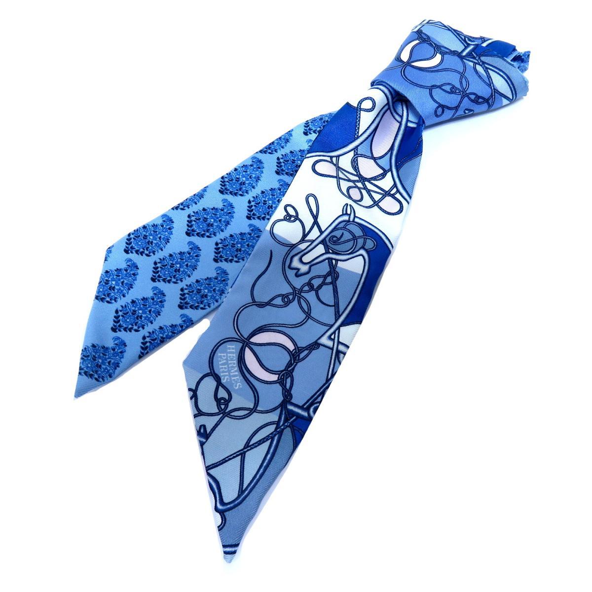 エルメス トゥイリー スカーフ レディース シルク BLEU BLANC ROSE | HERMES スカーフ ツイリー 新品 ブランドオフ