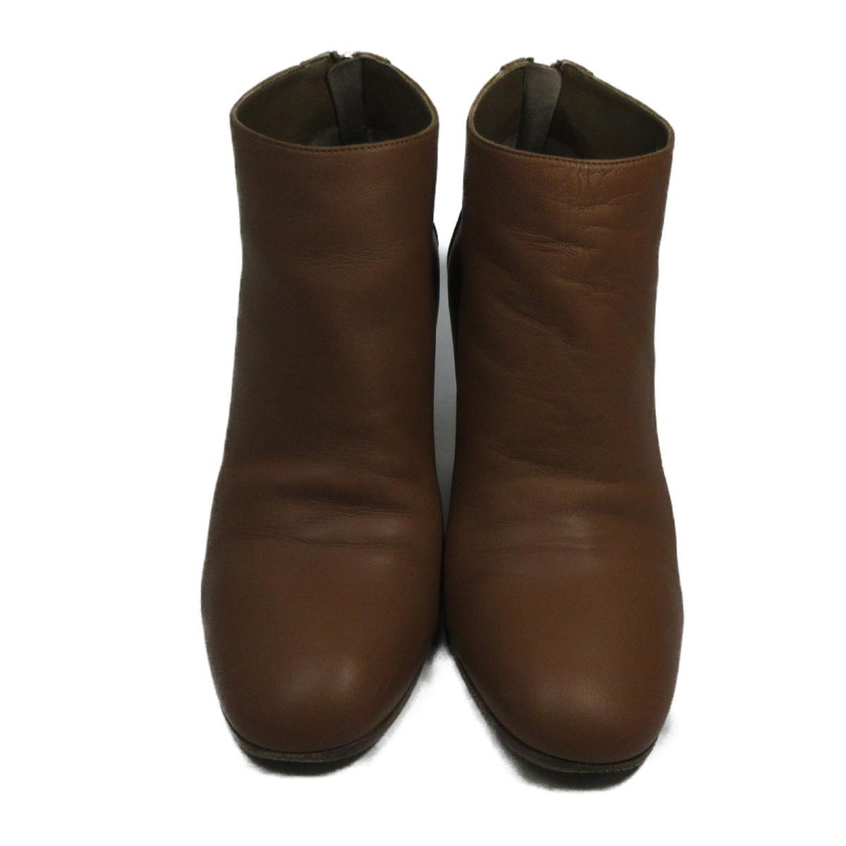 【中古】 エルメス ショートブーツ レディース レザー ウッド ブラウン   HERMES くつ 靴 ショートブーツ 美品 ブランドオフ