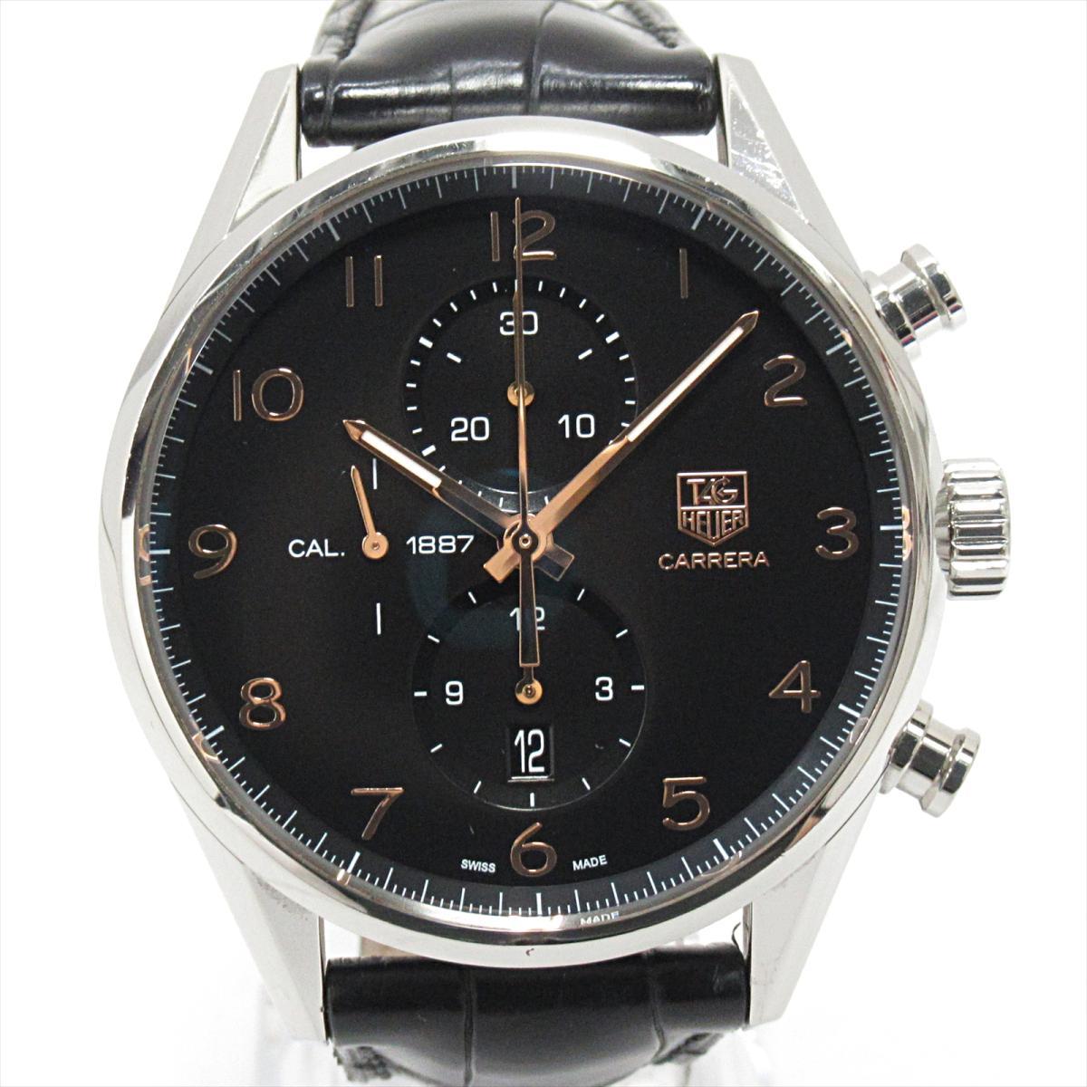 【中古】 タグ (SS)・ホイヤー カレラ クロノグラフ メンズ 腕時計 ウォッチ メンズ 自動巻き ステンレススチール (SS) x レザーベルト (CAR2014) | TAG HEUER オートマチック 自動巻き 時計 カレラクロノグラフ 美品 ブランドオフ, グッドライブ:3c5bd6e3 --- cgt-tbc.fr