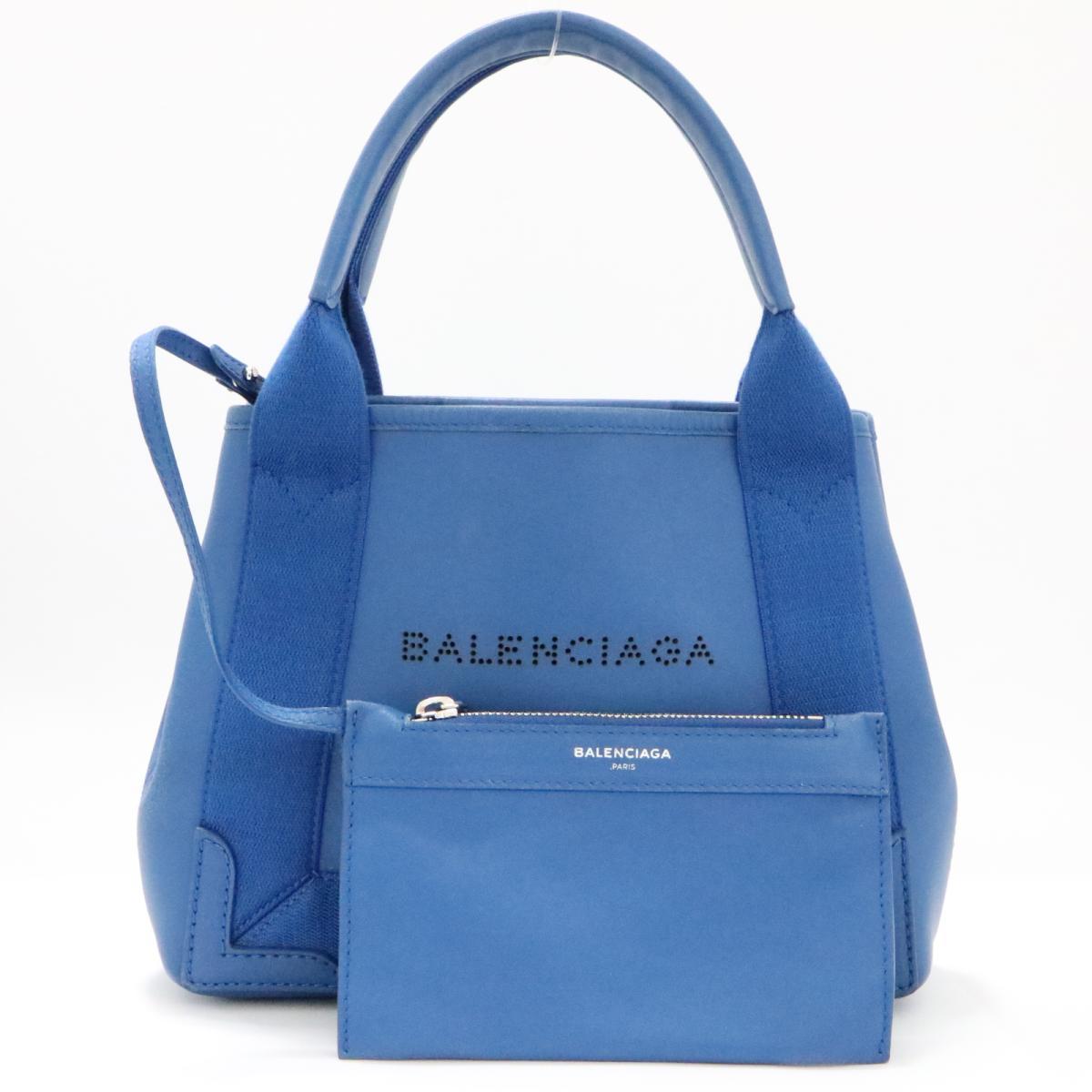 【中古】 バレンシアガ ネイビーカバス XS 2WAY ショルダーバッグ レディース レザー ブルー (390346) | BALENCIAGA ショルダーバック ショルダー 肩がけ バッグ バック BAG カバン 鞄 ブランドバッグ ブランドバック 美品 ブランドオフ