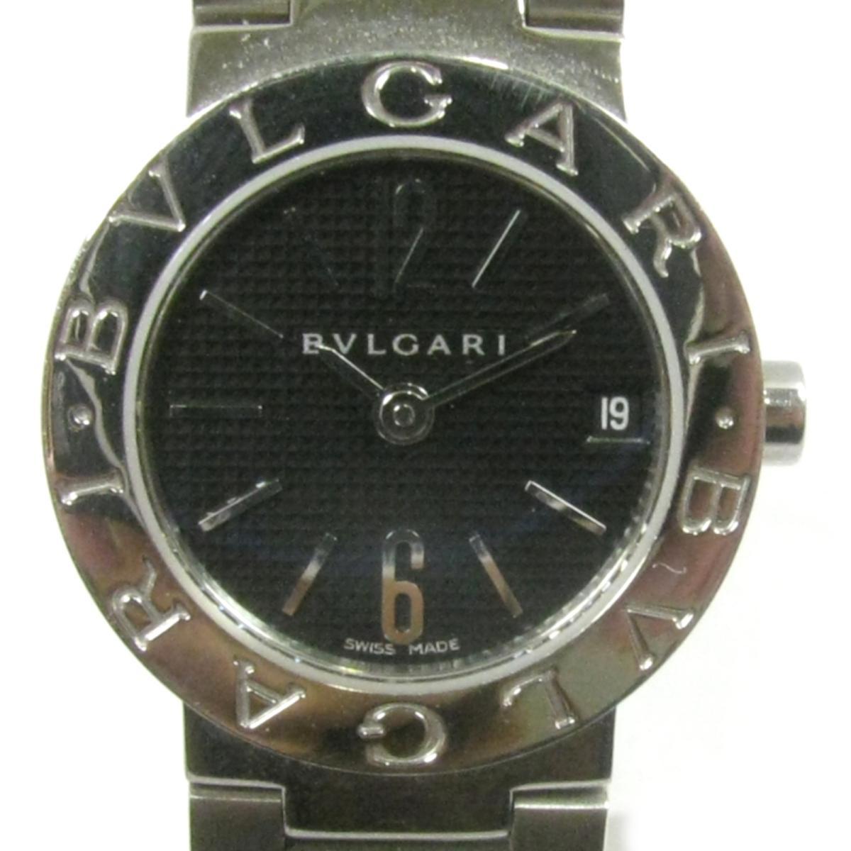【中古】 ブルガリ ブルガリ ブルガリ 腕時計 ウォッチ レディース ステンレススチール (SS) シルバー x ブラック (BB23SS) | BVLGARI ブルガリ ブルガリ 美品 ブランドオフ