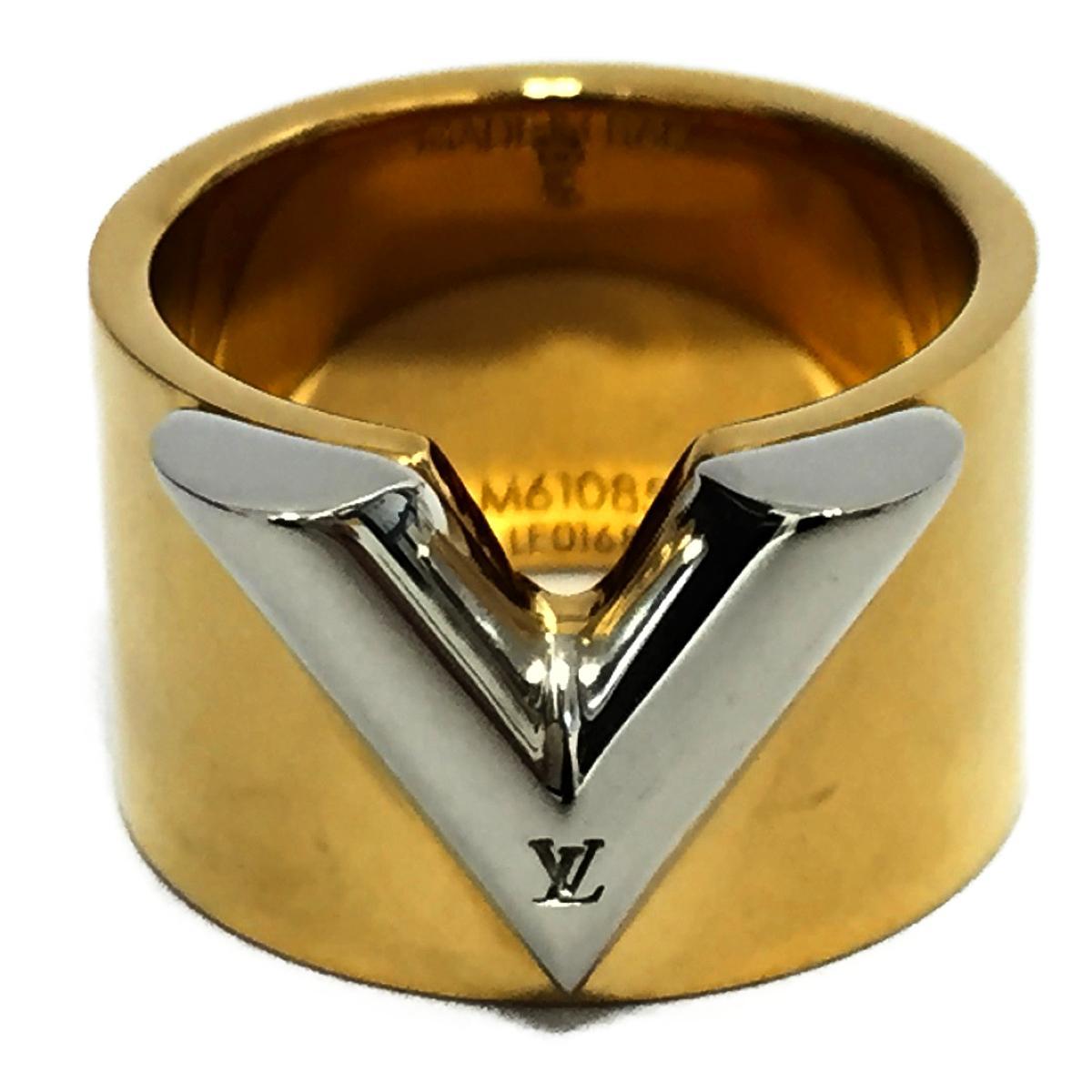 【中古】 ルイヴィトン リング エセンシャルV M メンズ レディース メッキ ゴールド (M61085) | LOUIS VUITTON ビトン ヴィトン ルイ・ヴィトン リング エセンシャルV M 美品 ブランドオフ