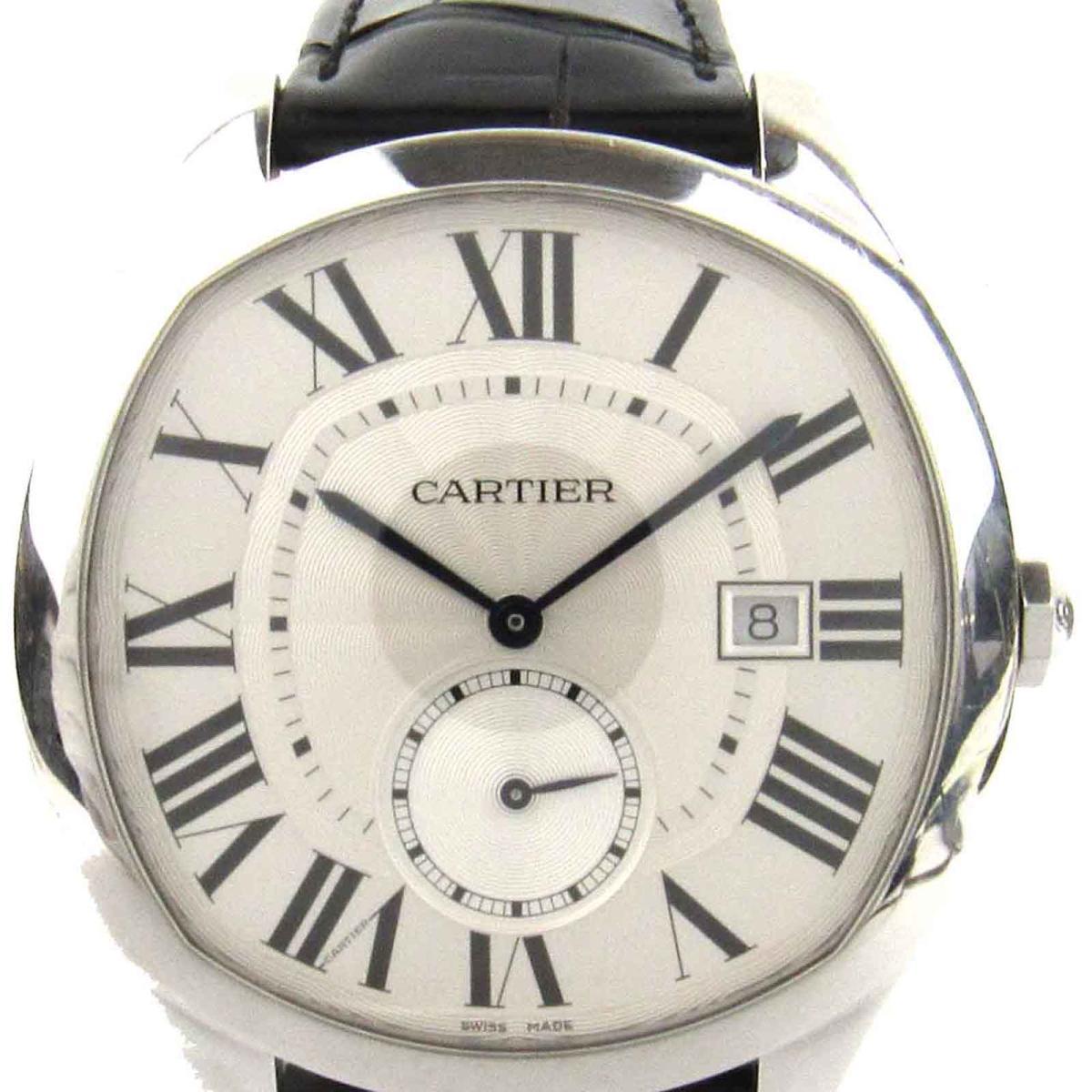 【中古】 カルティエ ドライブドゥカルティエ 裏スケルトン ウォッチ 腕時計 メンズ ステンレススチール (SS) x クロコレアーベルト (WSNM0004) | Cartier ドライブドゥカルティエ 裏スケ 美品 ブランドオフ