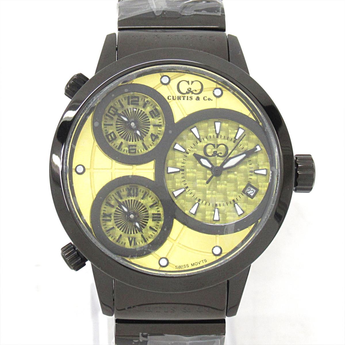 【中古】 セレクション Curtis & Co ビッグタイムワールド 腕時計 ウォッチ メンズ ステンレススチール (SS) (SUW42Y-B) | SELECTION CURTIS ビッグタイムワールド 美品 ブランドオフ
