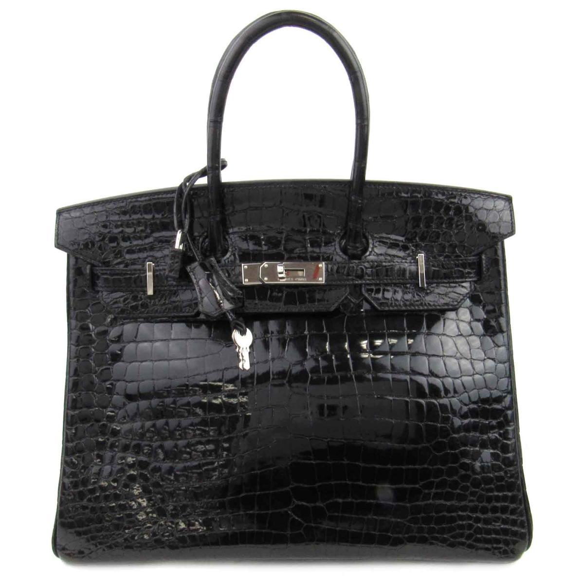 【中古】 エルメス バーキン35 ハンドバッグ レディース ポロサスシャイン ブラック (金具:シルバー) | HERMES ハンドバック バーキン BIRKIN 35 バッグ バック BAG カバン 鞄 ブランドバッグ ブランドバック 美品 ブランドオフ
