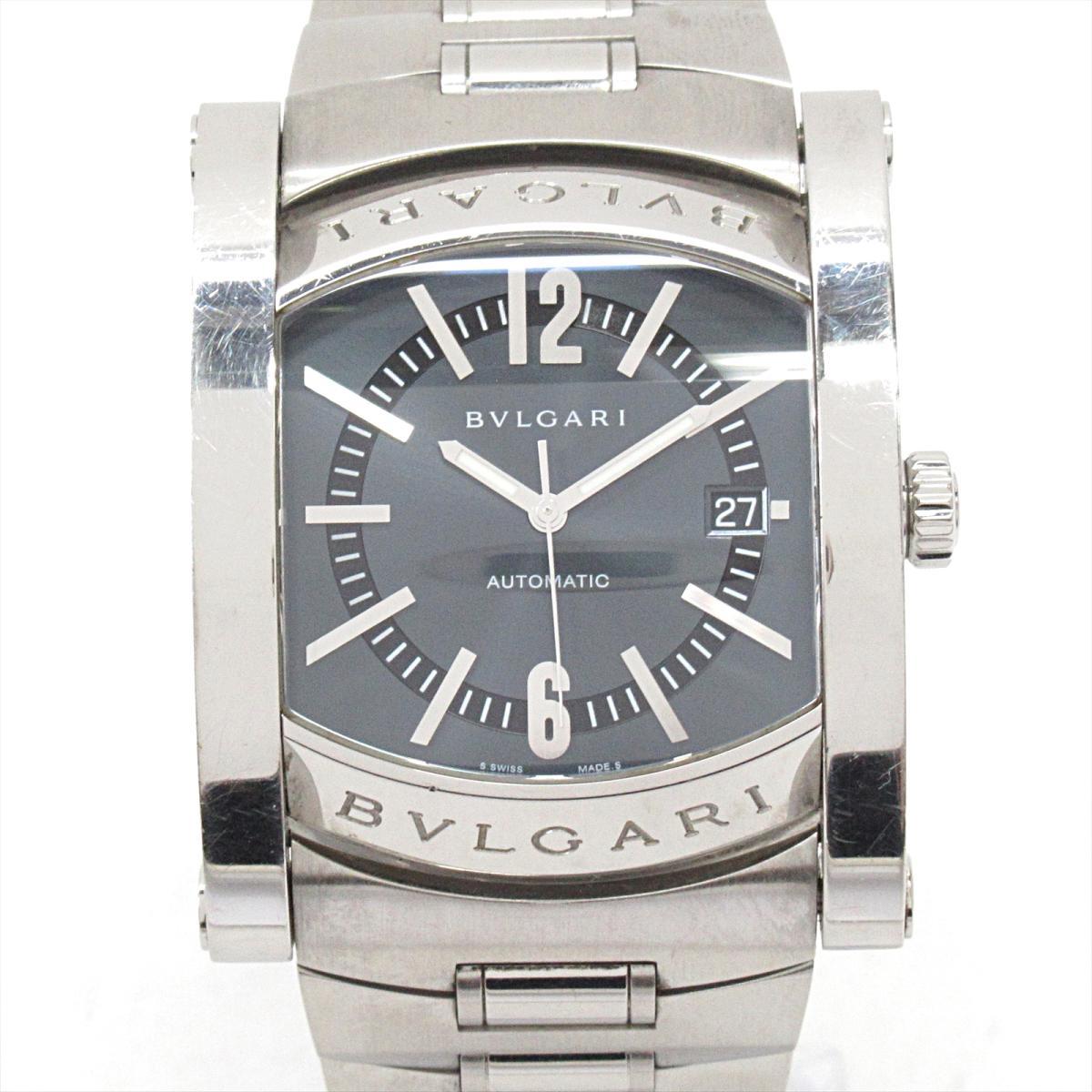【中古】 ブルガリ アショーマ 腕時計 ウォッチ メンズ ステンレススチール (SS) (AA48S) | BVLGARI オートマチック 自動巻き 時計 アショーマ48 ブランドオフ
