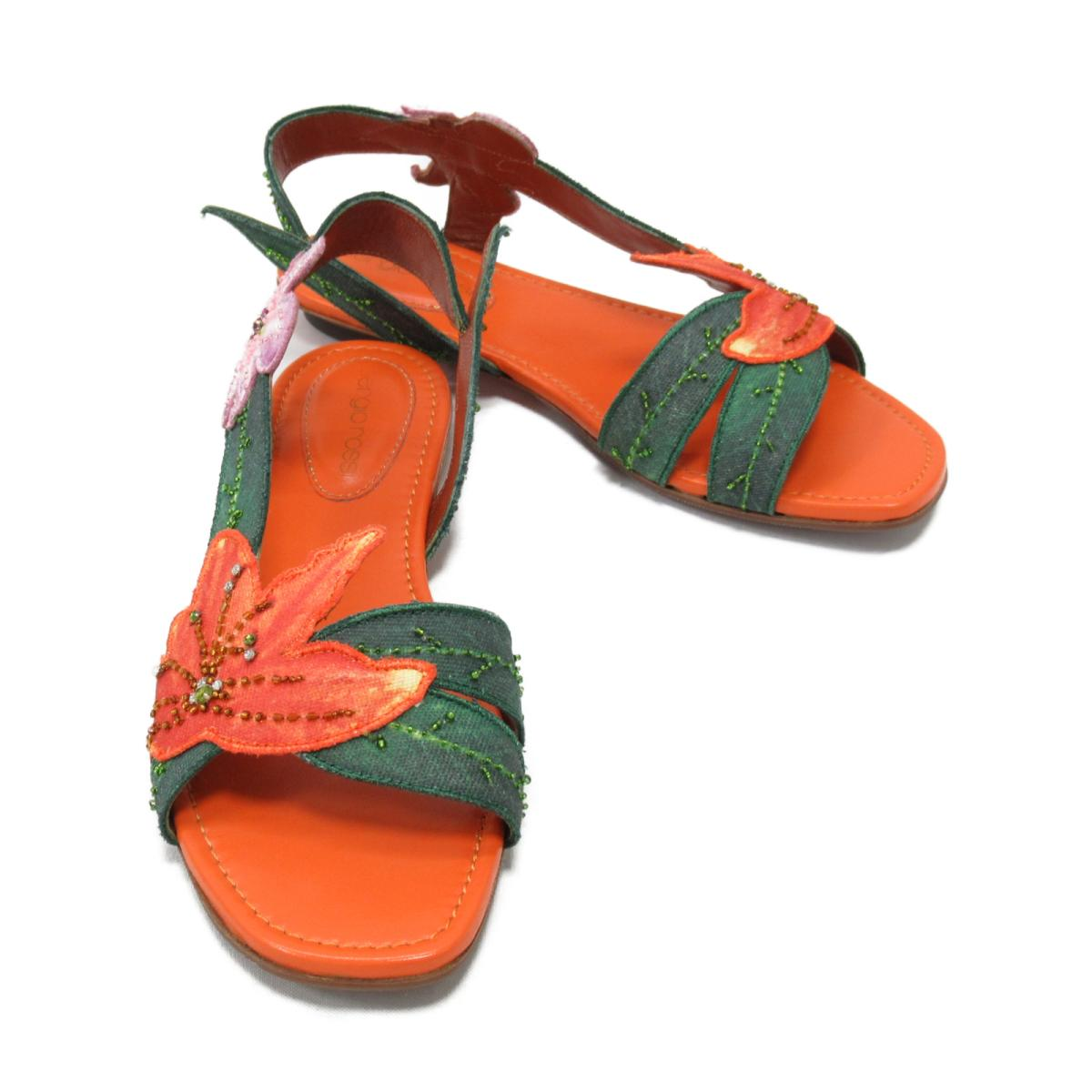【中古】 セルジオ・ロッシ サンダル レディース キャンバス マルチカラー | sergiorossi くつ 靴 サンダル 美品 ブランドオフ
